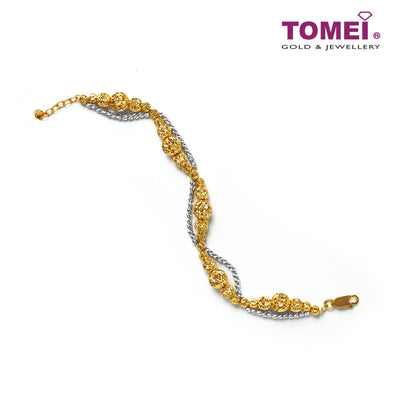 [Online Exclusive]Splendorous Spherical Galore Bracelet | Tomei Yellow Gold 916 (22K) (SET-B2214-2C)