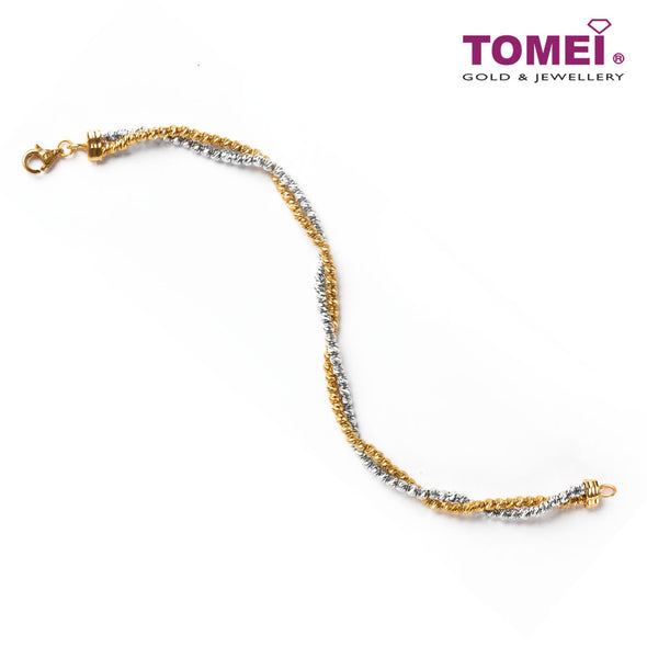 [Online Exclusive][Last Piece]Interlocking of Glamorous Duo Bracelet | Tomei Yellow Gold 916 (22K) (9M0358176)