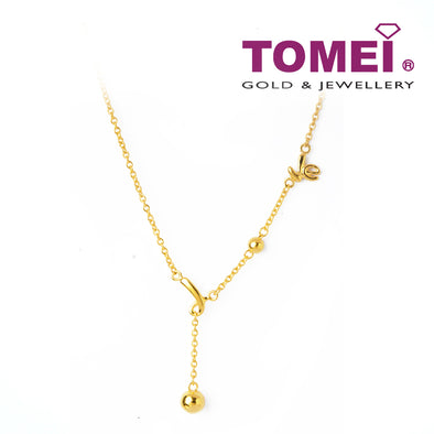 [Online Exclusive] Whimsically Delightful  Expression of Love Necklace | Tomei Yellow Gold 916 (22K) (NN2988-1C)