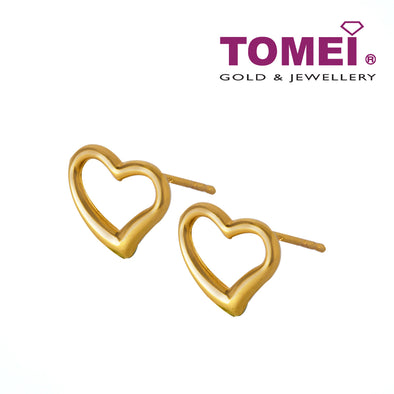 [Online Exclusive] Garlanded with Gilded Hearts Earrings| Tomei Yellow Gold 916 (22K) (X4NSE7270-1C)