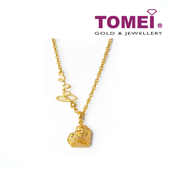 Exordium of Enamoured with  Love and Hearts Necklace & Bracelet | Tomei Yellow Gold 916 (22K) (AS-N2876/B2876A-1C)