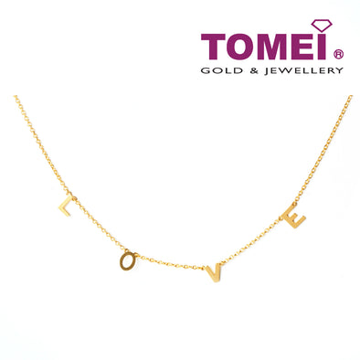[Online Exclusive] Love Necklace | Tomei Yellow Gold 916 (22K) (9N-YG1393N-1C/YG1382N-2C)