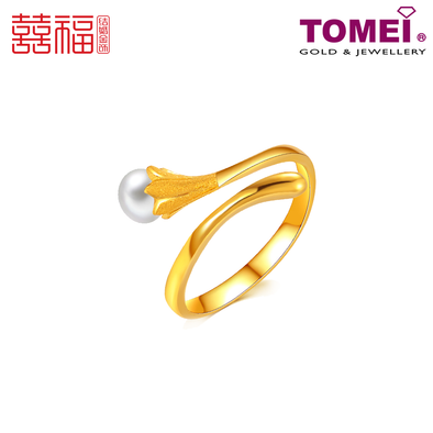 Tomei x Xifu Yellow Gold 999 (24K) Dewdrop Ring 露珠戒指 (XF-LZ-O)