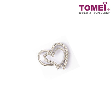[Last Piece]Interlocking in Love and Togetherness Diamond Pendant | Tomei White Gold 750 (18K) (DP0103900)