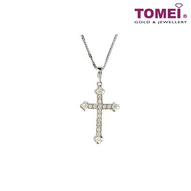 [Online Exclusive][Only Piece] Timeless Sparkle Diamond Necklace | Tomei White Gold 375 (9K) & White Gold 585 (14K) (P4532)