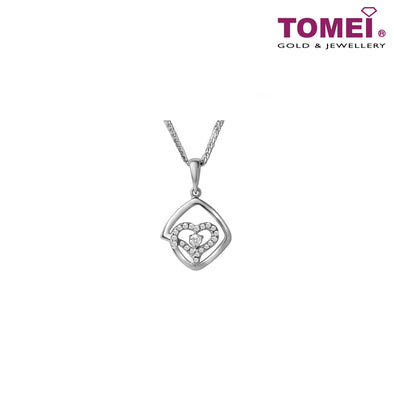 [Online Exclusive][Only Piece] Timeless Sparkle Diamond Necklace | Tomei White Gold 375 (9K) (P4144)