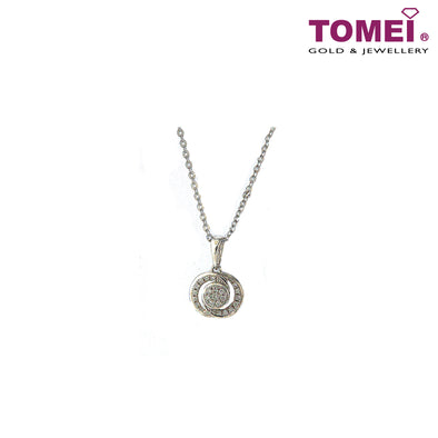 [Online Exclusive][Only Piece] Timeless Sparkle Diamond Necklace | Tomei White Gold 375 (9K) (P50077683)