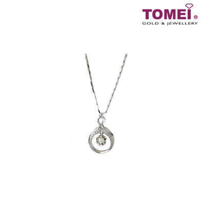 [Online Exclusive][Only Piece] Timeless Sparkle Diamond Necklace | Tomei White Gold 375 (9K) (P4727)