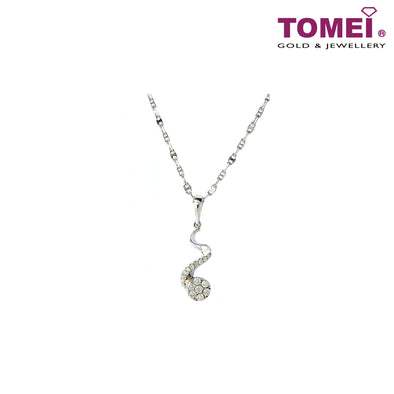 [Online Exclusive][Only Piece] Timeless Sparkle Diamond Necklace | Tomei White Gold 375 (9K) & White Gold 585 (14K) (P4456)