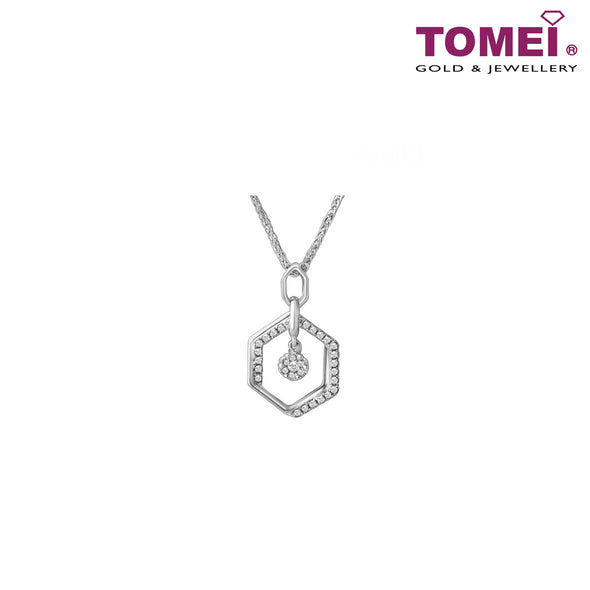 [Online Exclusive][Only Piece] Timeless Sparkle Diamond Necklace | Tomei White Gold 375 (9K) (P1728V)