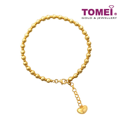 [Online Exclusive] Bracelet of Encircling Spheres and Love of My Life | Tomei Yellow Gold 916 (22K) (BB2910-A-1C)