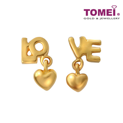 [Online Exclusive] LOVE Is In The Air  Earrings | Tomei Yellow Gold 916 (22K) (EE2795-C-1C)