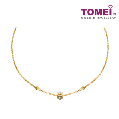 [Online Exclusive] Necklace of Timeless Elegance with Subtlety | Tomei Yellow Gold 916 (22K) (NN3148-2C)