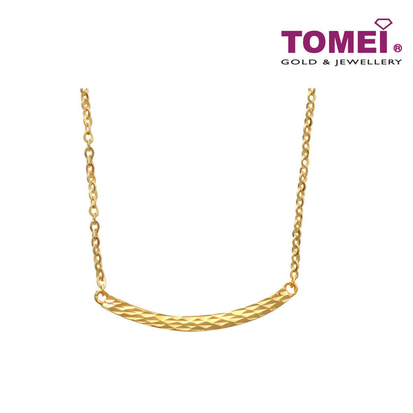 [Online Exclusive] Necklace of Accentuation of Elegance in Motion | Tomei Yellow Gold 916 (22K) (NN3105-B-1C)