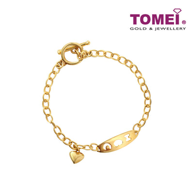 [Online Exclusive] Bracelet of Constant Continuity in Love | Tomei Yellow Gold 916 (22K) (BB2800-1C)