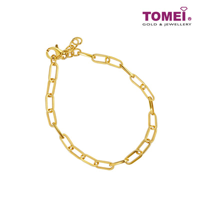 Cosmo Allure Link Chain Expandable Bracelet | Tomei Yellow Gold 916 (22K) (9M0417159)