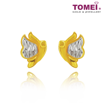 Angel Wings Earrings | Ooh La La Collection | Tomei Yellow Gold 916 (22K) (9Q-YG1074E-2C)