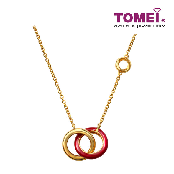 Flaming Love Entwined Circle Necklace | Tomei Yellow Gold 916 (22K) (9Q0247932)