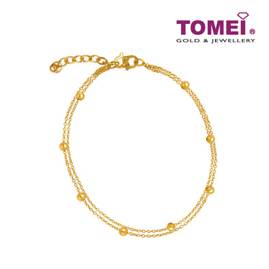 [Online Exclusive][Last Piece]Double Strand Bead Bracelet | Tomei Yellow Gold 916 (22K) (9M0410738)