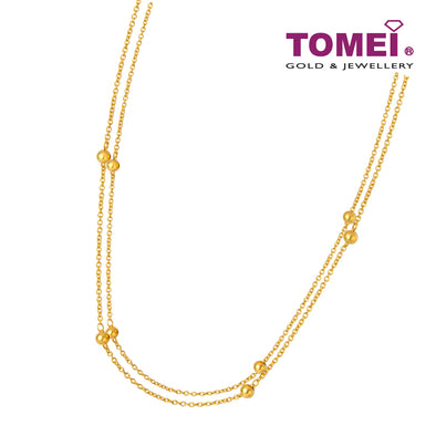 Double Strand Bead Necklace | Tomei Yellow Gold 916 (22K) (9N0438493)