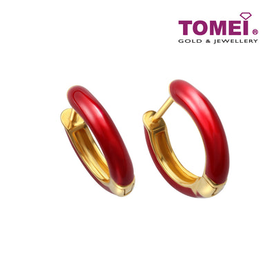 Flaming Love Hoop Earrings | Tomei Yellow Gold 916 (22K) (9Q0247932)