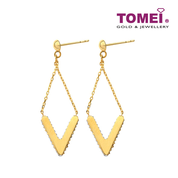 Essential V Lozenge Earrings | Tomei Yellow Gold 916 (22K) (IQ0030274)