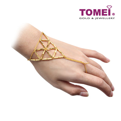 Geometric Triangle Lariat Bracelet | Tomei Yellow Gold 916 (22K) (9M0409804)