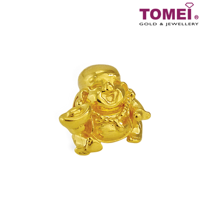 Laughing Buddha Charm | Colors of Memories | Tomei Yellow Gold 916 (22K) (TM-YG0642P-1C)