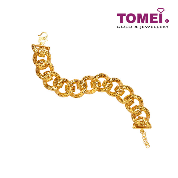 Coco D Chain Candy Bracelet | Tomei Yellow Gold 916 (22K) (9M-COCO DCND B4-1C)