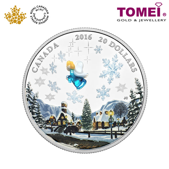 "Tomei x  Royal Canadian Mint Silver 9999 ""2016 Venetian Glass Angel"" Numismatic Coins 1oz. (147315)"