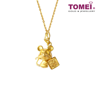 2020 Year of The Rat Countless Blessings Pendant | Tomei Yellow Gold 916 (22K) (9P-PT2723-1C)