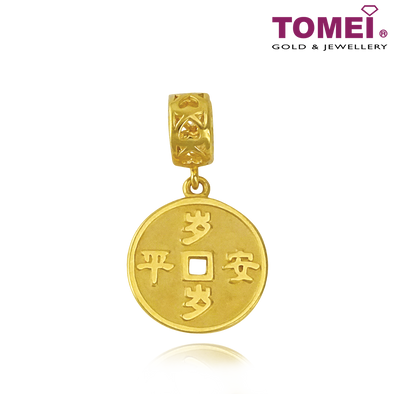 [Online Exclusive] Everlasting Peace Coin Charm (岁岁平安祝福串饰) | Colors of Memories | Tomei Yellow Gold 916 (22K) (TM-YG0647P-1C)