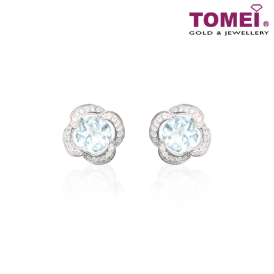 Tomei White Gold 375 (9K) Earrings (E5869AQ)