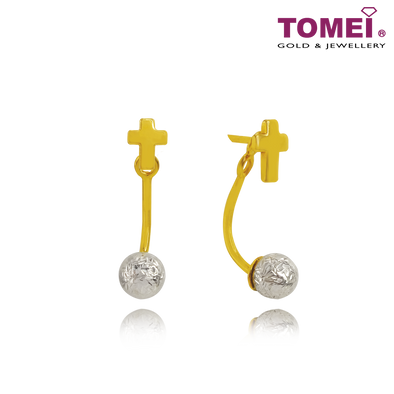 Cross of Faith Earrings | Ooh La La Collection | Tomei Yellow Gold 916 (22K) (VXE212185-YW-DC-II)
