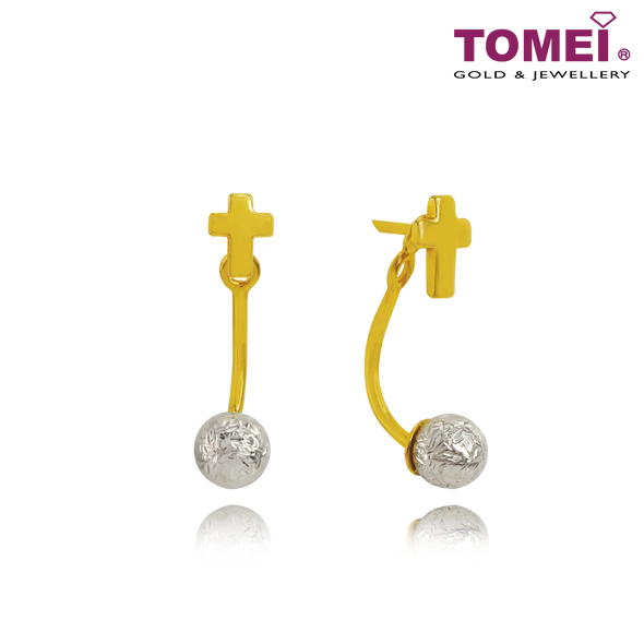 Cross of Faith Earrings | Tomei Yellow Gold 916 (22K) (VXE212185-YW-DC-II)