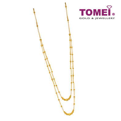 Double Strand Bead Necklace | Tomei Yellow Gold 916 (22K) (NN3179-1C)