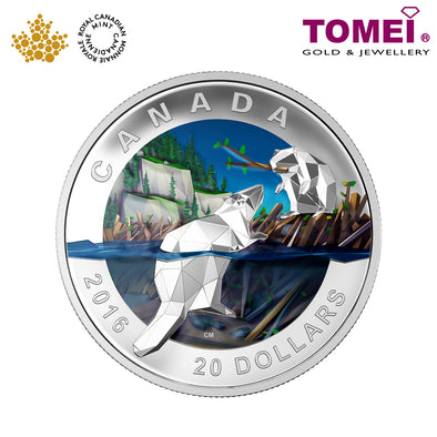 "Tomei x  Royal Canadian Mint Silver 9999 ""2016 Geometry in Art: Beaver"" Numismatic Coin 1oz. (147631)"