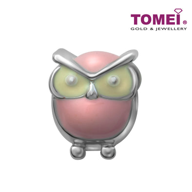 Be OWLsome Charm | Tomei White Gold 585 (14K) (4P0012224)