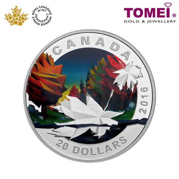 "Tomei x  Royal Canadian Mint Silver 9999 ""2016 Geometry in Art: The Maple Leaf"" Numismatic Coin 1oz. (151169)"