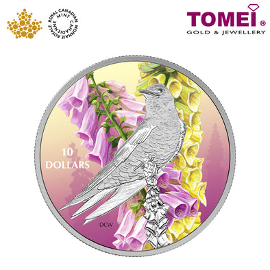 "Tomei x  Royal Canadian Mint Silver 9999 ""2017 Birds Among Nature's Colours: Purple Martin"" Numismatic Coloured Coin 1/2oz. (156236)"