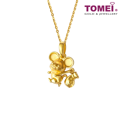2020 Year of The Rat Fortune Bag Pendant | Tomei Yellow Gold 916 (22K) (PP0019-B-RT-1C)