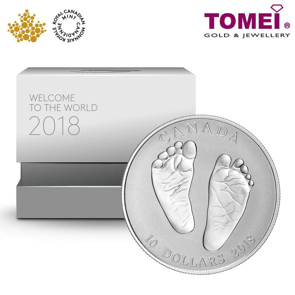 "Tomei x Royal Canadian Mint Silver 9999 ""2018 Welcome to the World"" Numismatic Coin (163154)"