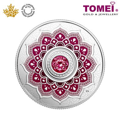 "Tomei x Royal Canadian Mint Silver 9999 ""2018 January Birthstone with Swarovski® Crystals"" Numismatic Coin (164206)"
