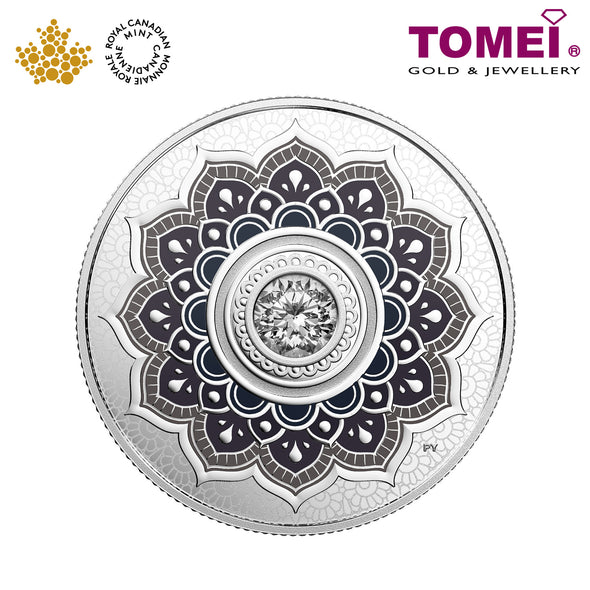 "Tomei x Royal Canadian Mint Silver 9999 ""2018 April Birthstone with Swarovski® Crystals"" Numismatic Coin (164230)"