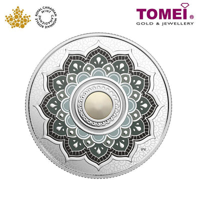 "Tomei x Royal Canadian Mint Silver 9999 ""2018 June Birthstone with Swarovski® Crystals"" Numismatic Coin (164351)"