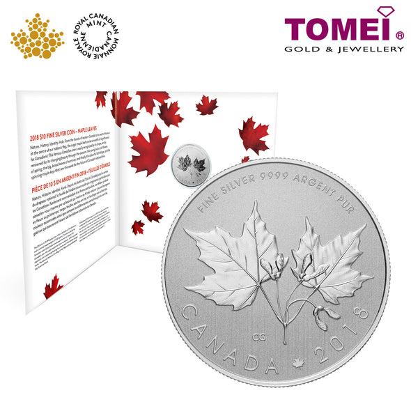 "Tomei x  Royal Canadian Mint Silver 9999 ""2018 The Maple Leaf"" Numismatic Coin (164889)"