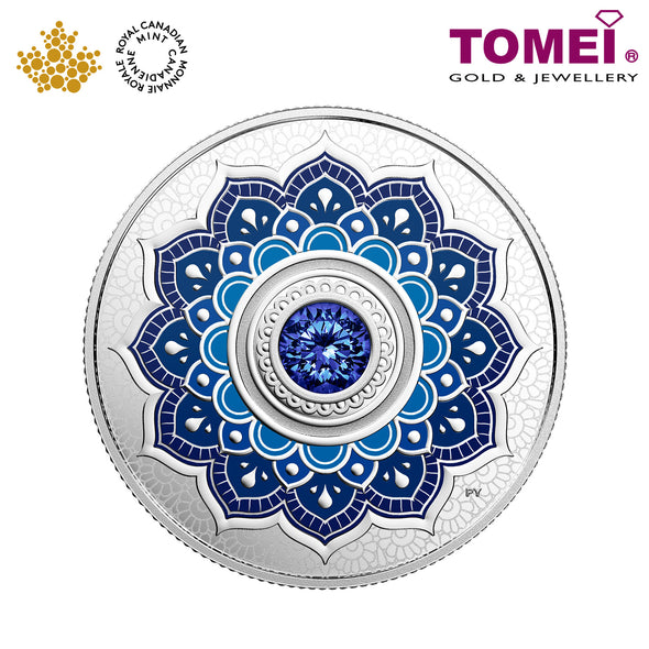 "Tomei x Royal Canadian Mint Silver 9999 ""2018 September Birthstone with Swarovski® Crystals"" Numismatic Coin (165496)"