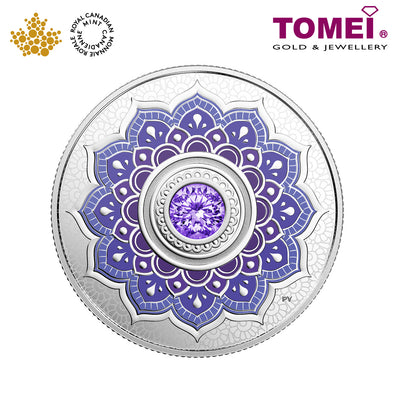 "Tomei x Royal Canadian Mint Silver 9999 ""2018 December Birthstone with Swarovski® Crystals"" Numismatic Coin (165521)"