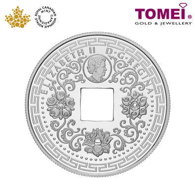 "Tomei x Royal Canadian Mint Silver 9999 ""2018 Good Luck Charms: Five Blessings"" Numismatic Coin (165914)"