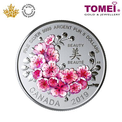"Tomei x Royal Canadian Mint Silver 9999 ""Brilliant Cherry Blossoms"" Numismatic Coin (169907)"
